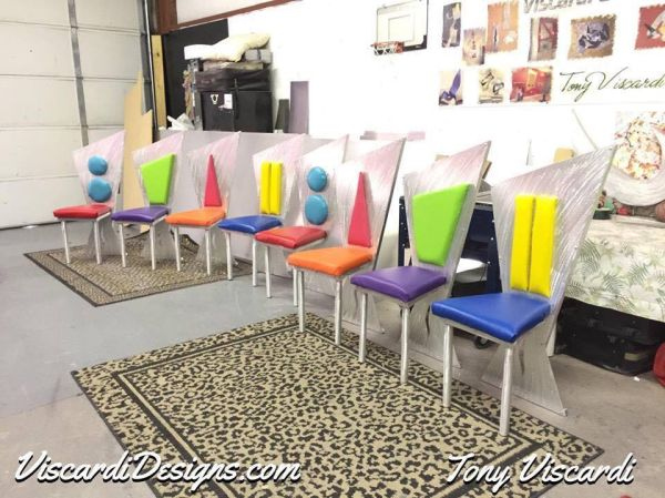 8 custom contemporary chairs we designed for a great client in California. These contemporary chairs are made with Marine grade fabric in fun whimsical ... & cotemporary dining chairs in contemporary chair styleding chair ...