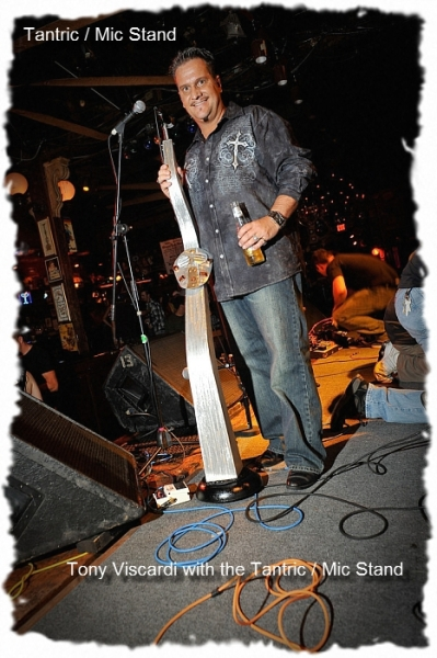 Custom Mic Stand For The Band Tantric With Hugo Ferreira