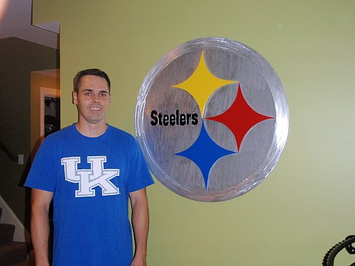 Steelers Wall Art pittsburg steelers wall art in brushed aluminum