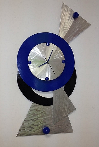 Contemporary Abstract Clock In Abstract Clock Colors And