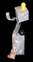 Brushed aluminum sculptures, art, aluminum sculptures, metal sculptures