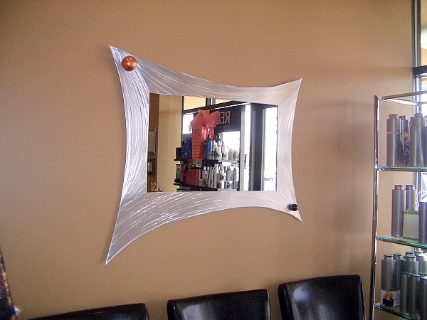 Custom mirror in contemporary mirror and mirrors