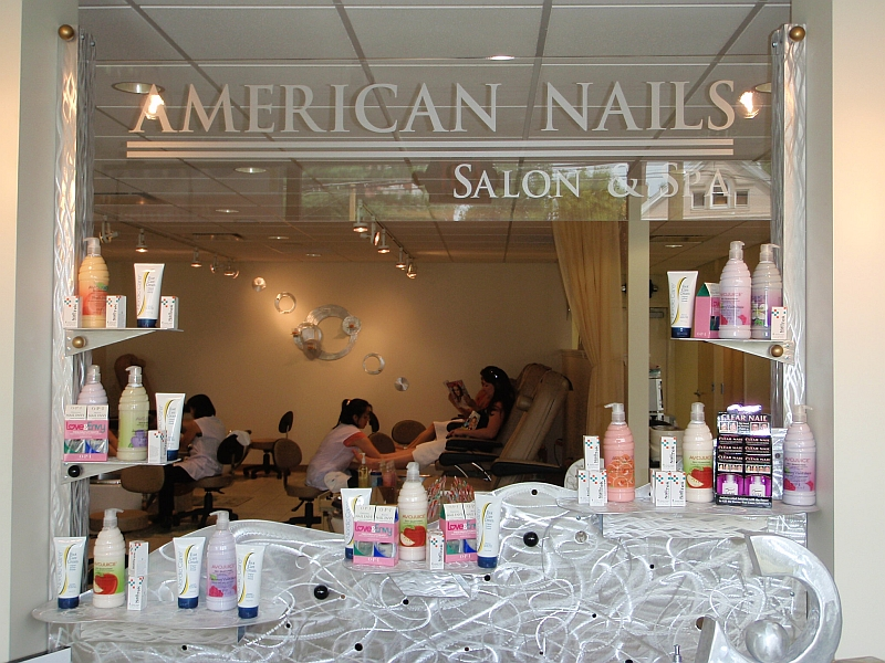front desk design for nail salon