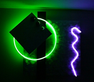 neon wall sculpture, neon wall art,   with 2 colors of neon