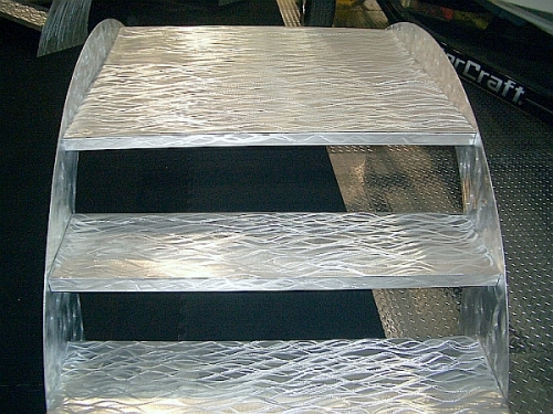 Brushed Aluminum Boat Show Steps And Boat Show Stairs And