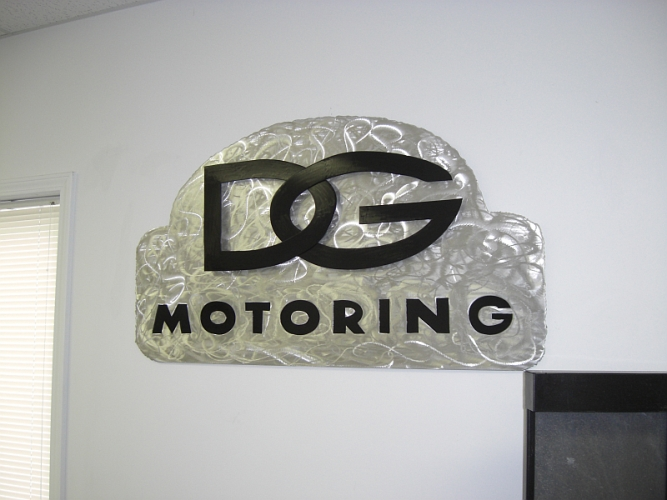 Brushed Aluminum Brushed Aluminum Sign And