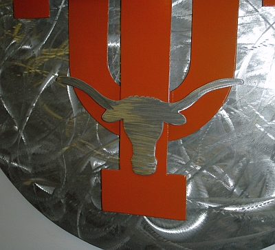Texas longhorns logo sign in aluminum