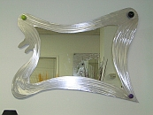abstract mirror, funky styled mirror, art mirror,artist made mirror in contemporary design