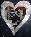 heart mirror, heart mirrors,abstract heart mirror