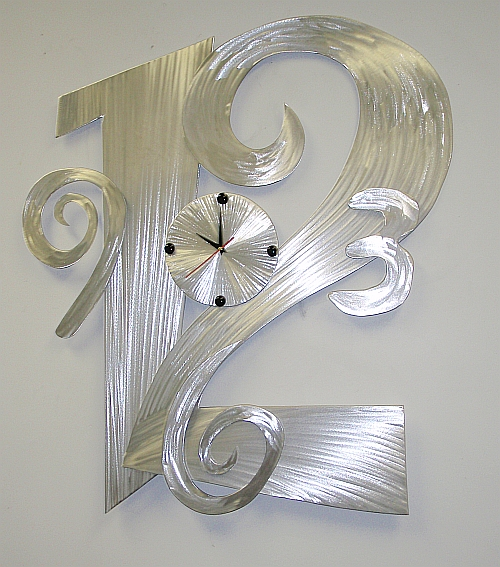 Abstract Clock Aluminum Clockscontemporary Clockmodern