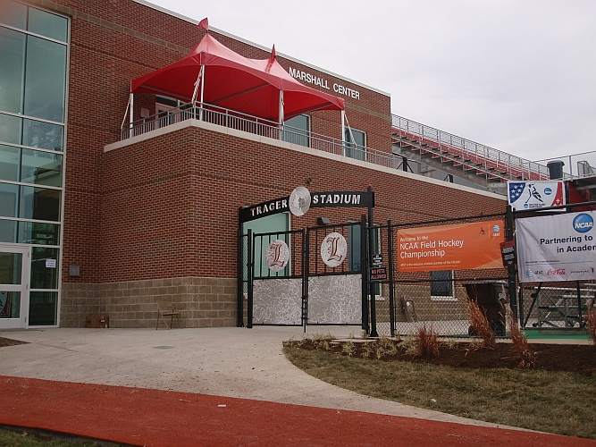 Trager stadium at university of louisville, Gates and awning