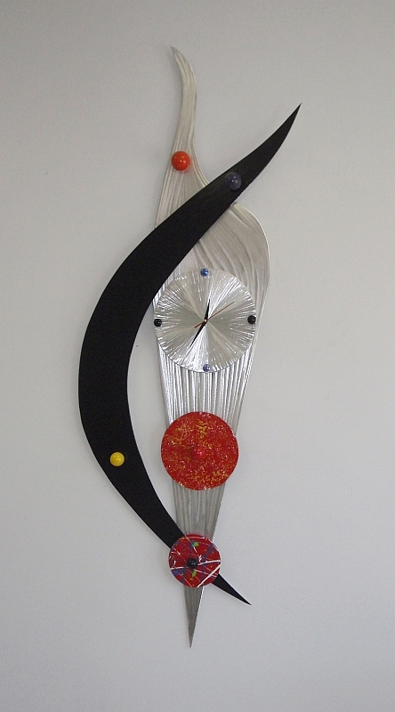 Abstract Contemporary Clock Design By Tony Viscardi