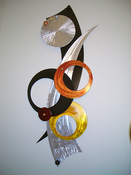 Aluminum Wall Art Wall Sculptures In Brushed Aluminum And
