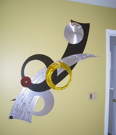 aluminum Wall art, wall sculptures in brushed aluminum and abstract ...