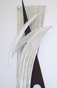 brushed aluminum art and sculptures