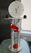 mantle clock and mantle clocks in a retro clock design