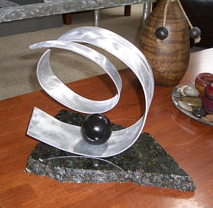 table top sculpture,sculpture in aluminum and tabletop sculpture for mantel