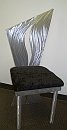 artist chair, dining chair art, aluminum dining chair in contemporary design