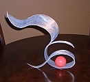 small sculpture in aluminum a tabletop sculpture