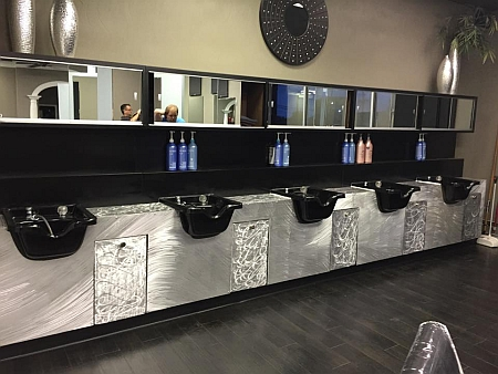 beauty shop design,beauty shop designs in brushed aluminum