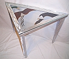 art gallery of endtables and brushed aluminum end tables