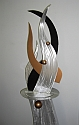 abstract tabletop sculpture in contemporary art sculpture design