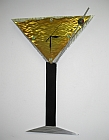 Martini clock, martini, martini art, martini sculpture