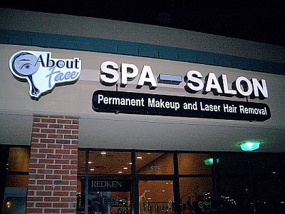 salon and spa custom sign