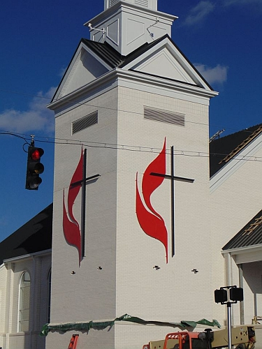 United Methodist Church sign Logo, UMC Cross & Flames sign come in all sizes, church cross, UMC Cross, large cross and flames, lit cross and flames, viscardi designs, tony viscardCross & Flames, UMC Cross, Church Cross, Tony Viscardi, Viscardi designs, United methodist cross,