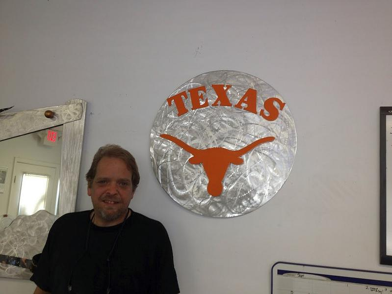 texas longhorns logo sign,texas longhorns art