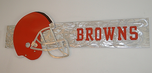 Cleveland browns Logo art sculpture in brushed aluminum by artist ...